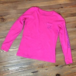 Vineyard Vines Long-Sleeve Pocket Tee + Sticker